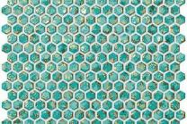 Dwell Turquoise Hexagon Gold 30x28.5 мозаика